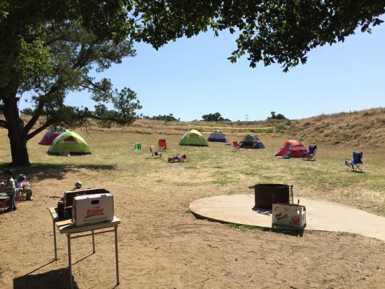 Rio Vista, CA: Our group campsite...