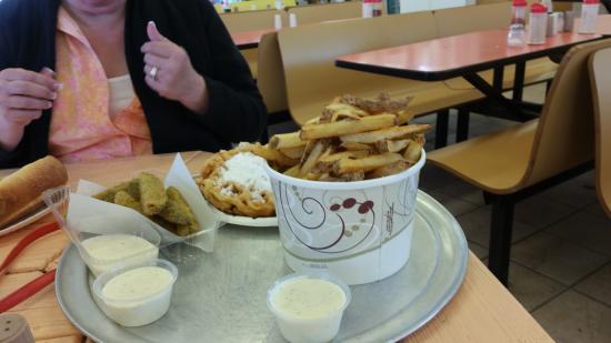 Seaside Heights, NJ: deep fried pickles. ..fries...funnel cake