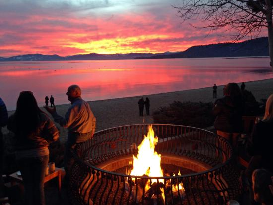 Reno, NV: Bonfire at Lake Tahoe