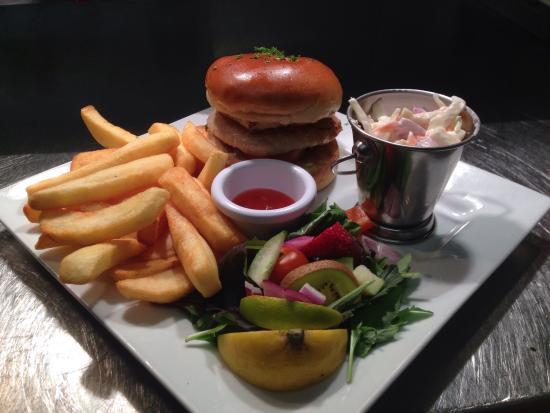 Liverpool Arms: Crocodile burger