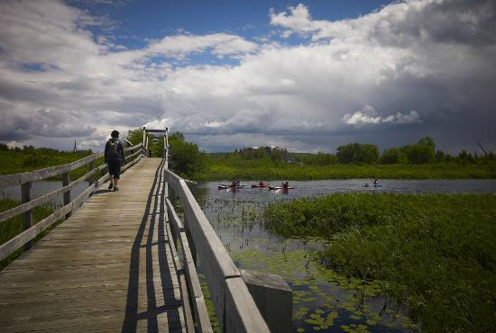 Magog, Kanada: Le pont du pionnier.