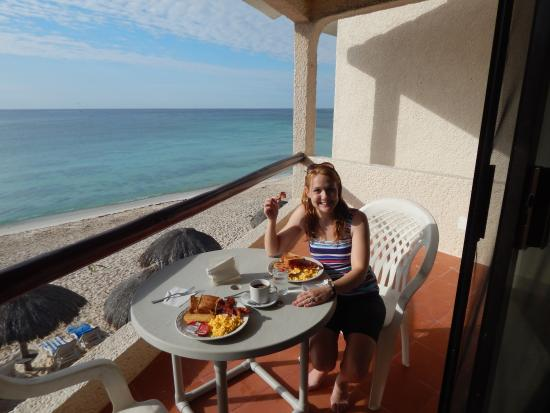 Villas Derosa Beach Resort Breakfast On Our Balcony