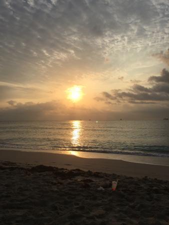 Ocean Drive Sunrise In Miami South Beach