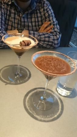 The Hershey Grill at the Hershey Lodge: Peanut Butter Cup Martini and Hershey's Kisses Signature Martini