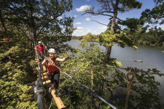 Heart Lake Conservation Area: Treetop Trekking aerial course and zip line at Heart Lake