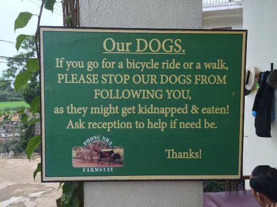 Phong Nha Farmstay Warning for Guests