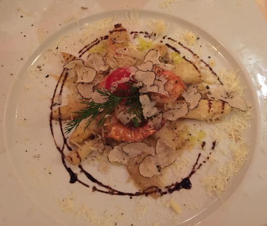 O'Pote: White asparagus, shrimps, truffles- so delicious!!
