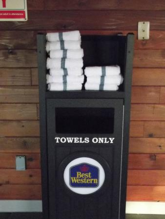 Best Western Hermiston Inn: The hotel provides towels for  your use.