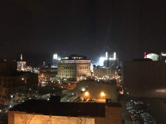 View at night picture of hilton garden inn detroit downtown detroit tripadvisor for Hilton garden inn downtown detroit