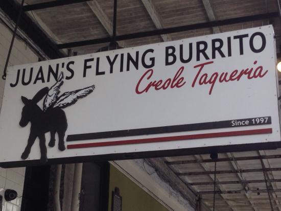 Juan's Flying Burrito: Great logo!