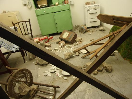 Museum City of Skopje : Example of the after-effects of the earthquake in 1963