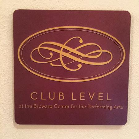 Broward Center for the Performing Arts: Club Level Logo