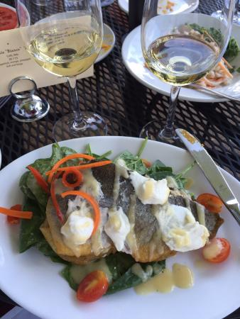 Big Sky Cafe: Trout on a bed of fresh spinach
