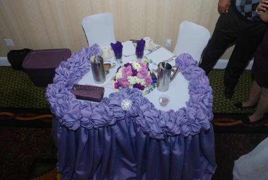Hilton Garden Inn Palmdale : Sweetheart table ~