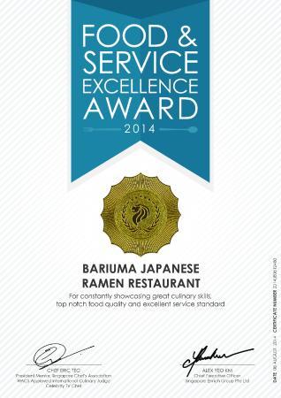 Excellent Asian award