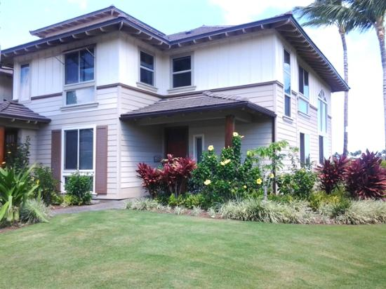 Palm Villas at Mauna Lani: Townhome Front View (2 Story)