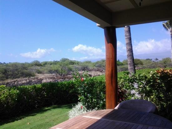 Palm Villas at Mauna Lani: View from Lower Patio of Kalahuipua'a Historic Park