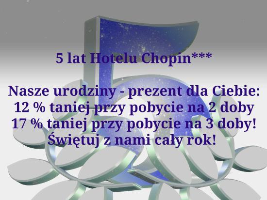Hotel Chopin: Oferta
