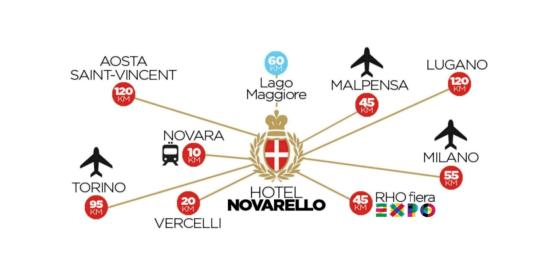 Hotel Novarello Resort & Spa: Novarello Hotel Expo 2015 map