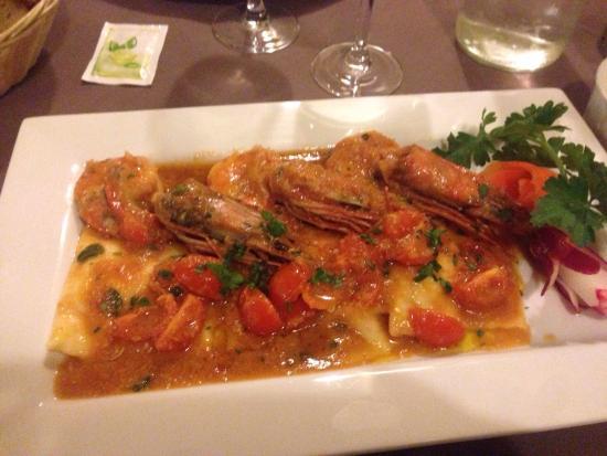 Grazie Mille: Raviole de saumon et gambas