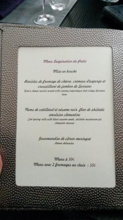 menu - Picture of Le Patio, Amboise - TripAdvisor