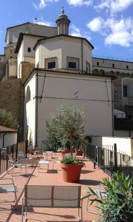 terrazza con vista Chiesa del Carmine - Picture of Residenza Il ...