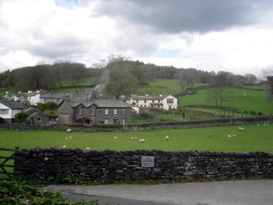 The Tower Bank Arms : View of Near Sawrey from our room