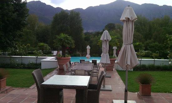Franschhoek Manor: View from patio