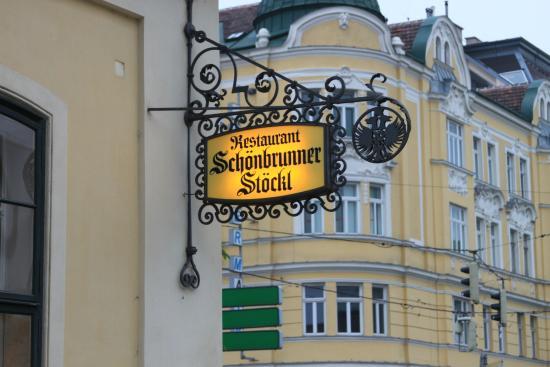 Schonbrunner Stockl: Sign