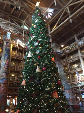 Christmas tree at the Wilderness Lodge