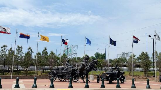 Cyrus Avery Centennial Plaza: East meets West Tribute