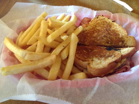 Hannah's Train Depot: Grilled Ham and Cheese Sandwich with Fries - $10.37