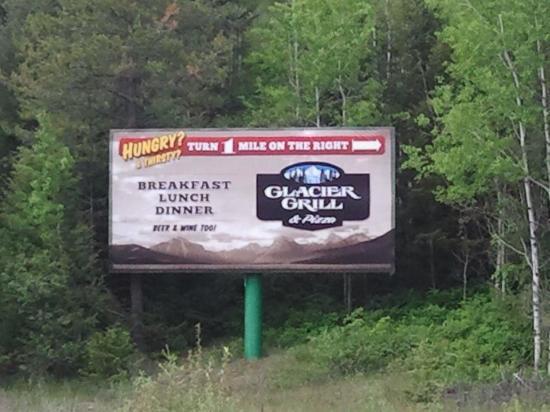 Glacier Grille & Pizza: Advertisement