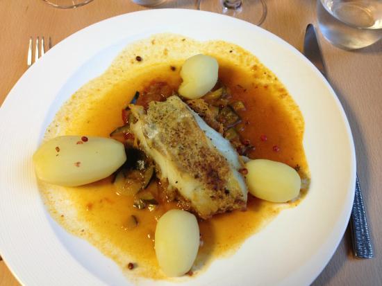 Hotel restaurant d'Ar Men : Dos de cabillaud grillé au basilic