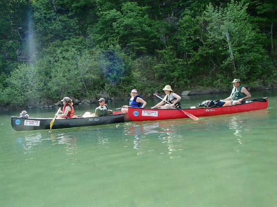Jasper, AR: 2 of the canoes