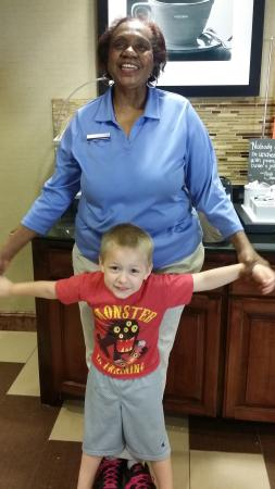Hampton Inn & Suites - Opelika: My son and Mrs. Mary!