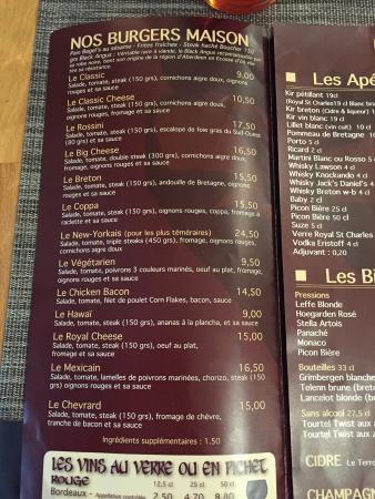 Au Jardin du Port : Large choix de burgers !