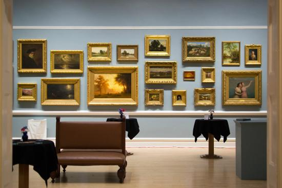 Our American Paintings gallery in the D'Amour Museum of Fine Arts on the Springfield Museums cam