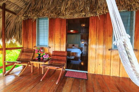 St. George's Caye Resort: Only 12 well-appointed, thatch-roof cabanas