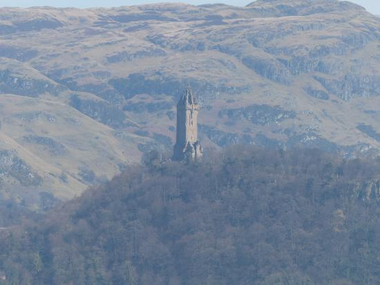 Buchlyvie, UK: Wallace Monument from Stirling Castle