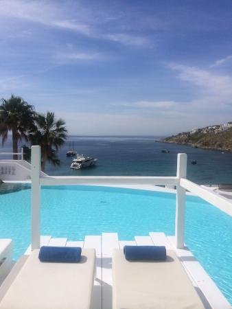 Grecotel Mykonos Blu Hotel: Pool view