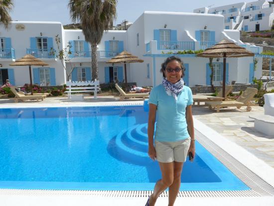 Hotel Lady Anna: Vista para a área da piscina