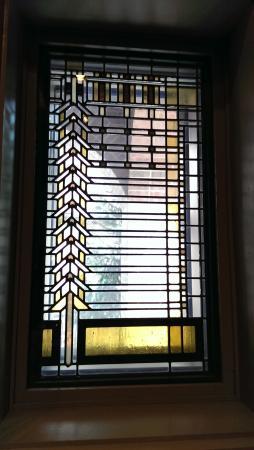 Kirkland Museum of Fine & Decorative Art: Front door sidelight