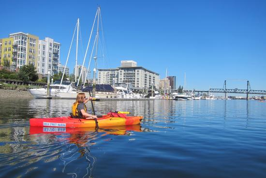 Kayaking on the Foss Waterway in Downtown Tacoma