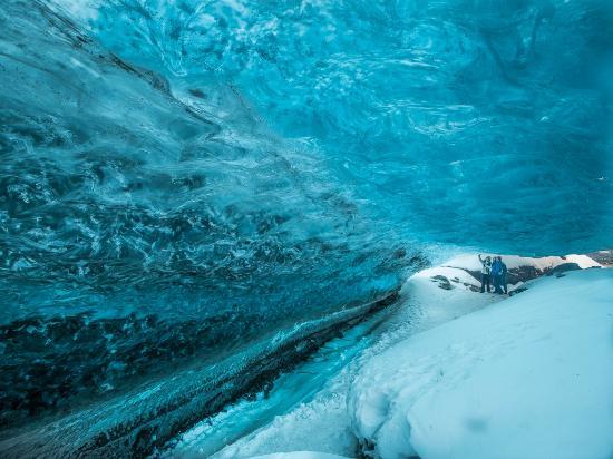 Skaftafell, Island: ice cave