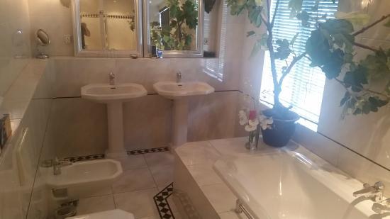Breitner House: Bathroom was Large with Bidet