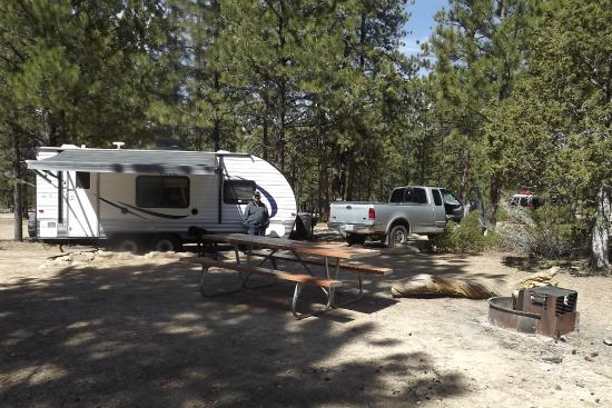 North Campground: Loop A - Site 25 - big pull through site, close to bathrooms