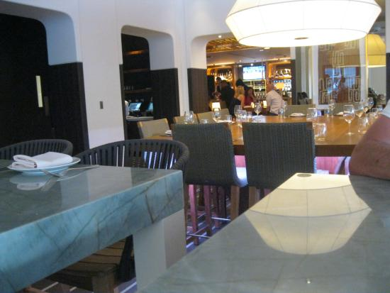 View From The Table Where We Sat Picture Of Hexx Kitchen Bar Las Vegas Tripadvisor