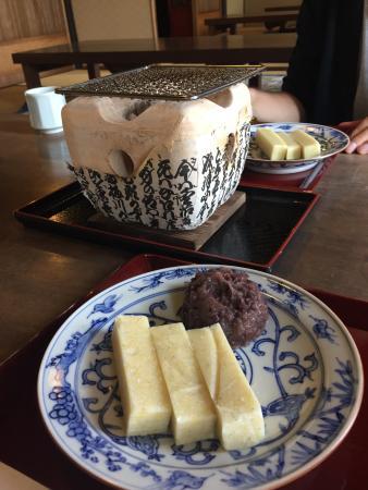 Taneya Hikonemihorinoya : 焼き餅。小豆
