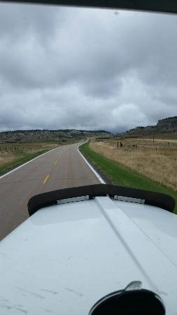 US Highway 16 : This part of Wyoming is so beautiful. Headed two words Buffalo Wyoming